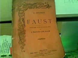 FAUST De Charles GOUNOD – PARTITION CHANT ET PAROLESDRAMMA LIRICA 5 ATTI 1925/30 FJ11222 - Libri, Riviste, Fumetti