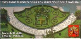 VATICANO 1995 - ANNO EUROPEO CONSERVAZIONE DELLA NATURA - LIBRETTO CON 12 VALORI NUOVI ** PERFETTI - Nuovi