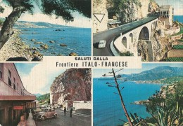 V-FRONTIERA ITALI-FRANCESE-SALUTI DA.. VEDUTINE..(PONTE S.LUIGI) - Dogana