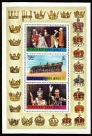 B) 1977 TUVALU,  WEDDING,  CROWN, QUEEN,  KING, PICTURE,  SILVER JUBILEE,  SOUVENIR SHEET, MNH - Tuvalu
