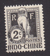 Indo-China, Scott #J5, Mint No Gum, Dragon From Steps Of Angkor Wat, Issued 1908 - Indochine (1889-1945)