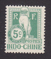 Indo-China, Scott #J7, Mint No Gum, Dragon From Steps Of Angkor Wat, Issued 1908 - Indochina (1889-1945)