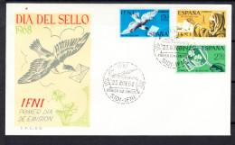 IFNI 1968. FDC.SOBRE 1er. DIA DEL SELLO    EDIFIL Nº 236/238  CN6464 - Ifni
