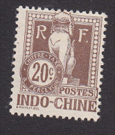 Indo-China, Scott #J10, Mint No Gum, Dragon From Steps Of Angkor Wat, Issued 1908 - Indochina (1889-1945)