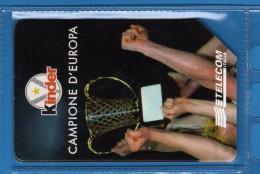 Telecom Italia  - X- USATA - C&C  2937 -  Kinder Campione D'Europa .  Vedi Descrizione. - Italia