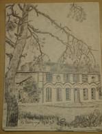 Dessin Au Crayon 1951 - LE CAMPREUX Dans La Somme   ( 3) - Dessins