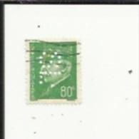 Timbre 80 Cts -Petain_Perforé ( S  L )  Bon Etat 1941 - Gezähnt (Perforiert/Gezähnt)