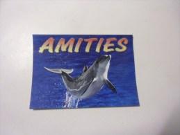 Dauphins  ( Amities )lettre Avec Paillettes - Dauphins