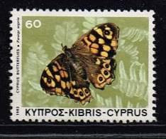 Zypern 1983, Michel# 584 O Schmetterling - Cyprus (Republic)