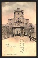 CADIZ TARJETA POSTAL HM Nº802 PUERTA DE TIERRA Vintage Original Ca1900 POSTCARD CPA AK (W4_2522) - Cádiz
