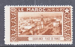 FRENCH  MOROCCO   LABEL  CASABLANCA    * - Morocco (1891-1956)