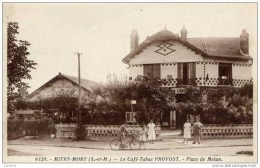 77-MITRY-MORY-Le Café-Tabac PROVOST-Place De Melun-animée SUPERBE - Mitry Mory