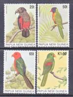 PAPUA  NEW  GUINEA  889-92    **    PARROTS - Parrots
