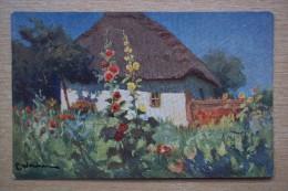 4026 Poland. Painting. Krakow. Wrzeszcz CPA 119 - Pintura & Cuadros