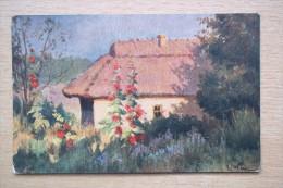 4026 Poland. Painting. Krakow. Wrzeszcz CPA 114 - Pintura & Cuadros
