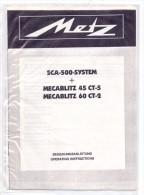 PHOTOGRAPHIE - METZ Mecablitz 45 CT-5 & 60 CT-2, Bedienungsanleitungen, Gute Erhaltung, Einzelblätter - Fotografia