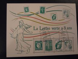 """FRANCE 2014 BLOC FEUILLET """" LA LETTRE VERTE A 3 ANS """" OBLITERATION PREMIER JOUR - Nuovi"""