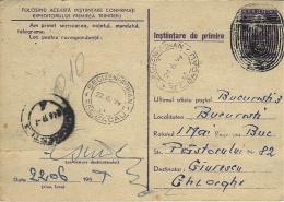1959-C P E P De Segurni-Roman  Pour Bucarest  Très Curieuse Annulation - 1948-.... Repubbliche