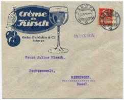 968 - 10 Rp. Tellbrustbild (Type I) Auf Illustriertem Umschlag - Briefe U. Dokumente