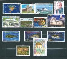Timbres  De Wallis Et Futuna Année 2000  Complète N°535  A  547  Neuf ** Parfait  (cote 73,80€) - Used Stamps