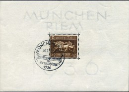 ALLEMAGNE EMPIRE Deutsches Reich - 1936 BLOC BF6 OBLITERE COTE 18E  A SAISIR - Blocchi