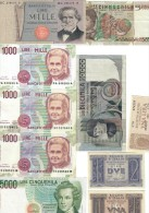 10 Banconote Miste Da 1 Lira A 10000 Lire Da Bb A Q.fds LOTTO 1037 - [ 2] 1946-… : Républic