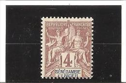 TIMBRES DE 1903 Légende En Rouge Ou En Rose   N °3 *  Charnière - Senegambia And Niger (1903-1906)