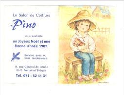 Calendrier De Poche 1987 - Salon De Coiffure PINO à Fontaine - L' Eveque (Mi6) - Calendriers