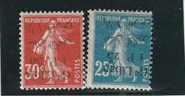 /Grand Liban _ Semeuse _surcharge Renversée (1924 )n°28/29b