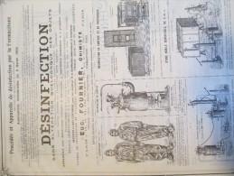 Encart Publicitaire/Procédéset Appareils Désinfection Par La Formacétone/FOURNIER/Catalogue Export Lacarriére/1904 ILL79 - Francia