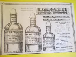 Encart Publicitaire/Dentifrice /Eau De Philippe/Odonthaline//Catalogue Export Lacarriére/1904 ILL80 - Droguerie & Parfumerie