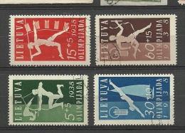 LITHUANIA Litauen 1938 Michel 417 - 420 O - Litauen