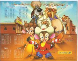 ALMANACH DU FACTEUR 2000 ( CALENDRIER ) FIEVEL AU FAR-WEST / FIEVEL ET LE TRESOR PERDU - Déssin: ? - Calendriers