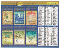 ALMANACH DU FACTEUR 2000 ( CALENDRIER ) HOROSCOPE : LION / VIERGE / BALANCE / BELIER ... - Déssin: ? - Calendriers
