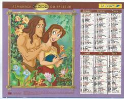 ALMANACH DU FACTEUR 2000 ( CALENDRIER ) TARZAN - Déssin: BURROUGHS & DISNEY - Calendriers