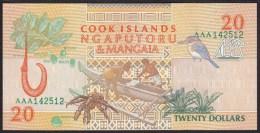 Cook Islands 20 Dollar 1992 P9 UNC - Cook