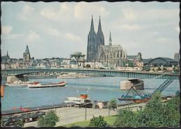 D-50667 Köln Am Rhein - Dom Und Rhein - Dampfer - Tram - Lastkahn - LKW (60er Jahre) - Koeln