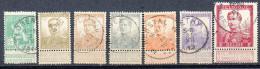 Belgien 1912/13: Freim. Kl. Kopf U. Größerer Kopf Gestemp.; Mi.-Nrn. 91, 93,94, 96-99, 100 I/II, 101 I, 102 I/II U. 103 - 1912 Pellens