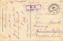 III. Res. I.R. 79 + TàD K.D. FELD-POSTEXPED 19. RESERVE - DIV Du 20/8 (15) Sur CP Rappoltsweiler - Poststempel (Briefe)
