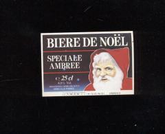 Etiquette De Bière De Noël  -  Spéciale Ambrée  -  Brasserie Semeuse  à  Lille  (59) - Beer