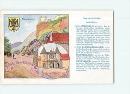 Carte Publicitaire Pastilles VALDA - Ville De BESANCON , Département Du DOUBS - TBE - 2 Scans - Advertising