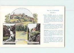 Carte Publicitaire Pastilles VALDA - Ville De TURENNE , Département De La CORREZE - TBE - 2 Scans - Publicité