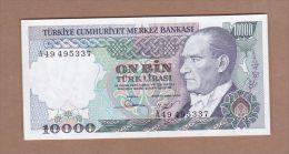 AC - TURKEY 7th EMISSION 10 000 TL A UNCIRCULATED - Turquie