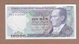 AC - TURKEY 7th EMISSION 10 000 TL B UNCIRCULATED - Turchia