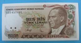 AC - TURKEY - 7th EMISSION 5 000 TL G  UNCIRCULATED - Turquie