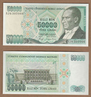 AC - TURKEY- 7TH EMISSION 50 000 TL M UNCIRCULATED - Turquie