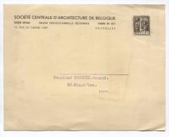 TP 337 Préos Bruxelles 1935 S/Document Commerciale Société Centrale D'Architecture De Belgique V.Dour AP890 - Typo Precancels 1932-36 (Ceres And Mercurius)