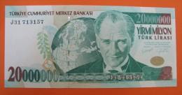 AC - TURKEY - 7th EMISSION 20 000 000 TL J UNCIRCULATED - Turkije