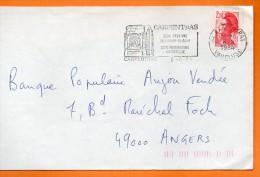 34 CARPENTRAS  SON FESTIVAL    6 / 8 / 1984 Lettre Entière 110x220 N° U 679 - Marcophilie (Lettres)