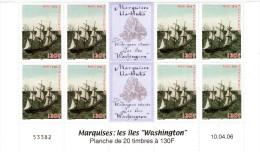 Polynésie Française TP Neuf** N°768 Les Iles Washington (Voilier) 8TP Bas De Feuille Avec Logo Central - Französisch-Polynesien